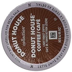 Donut House Collection Single Serve Keurig Certified K-Cup pods for Keurig brewers, 30 Count