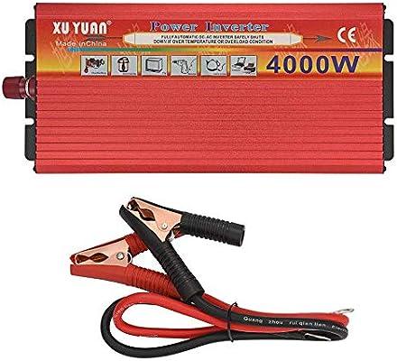 Inversor De Corriente 100W DC 12V A 110V AC Coche USB Convertidor Auto Carro