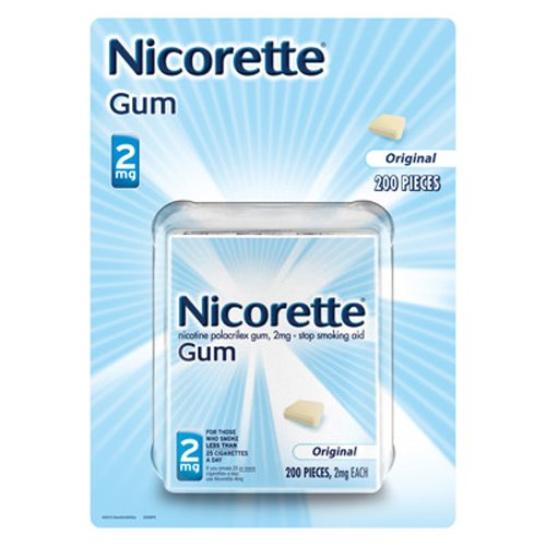 Nicorette 2 mg gomme d'origine, 200 comte