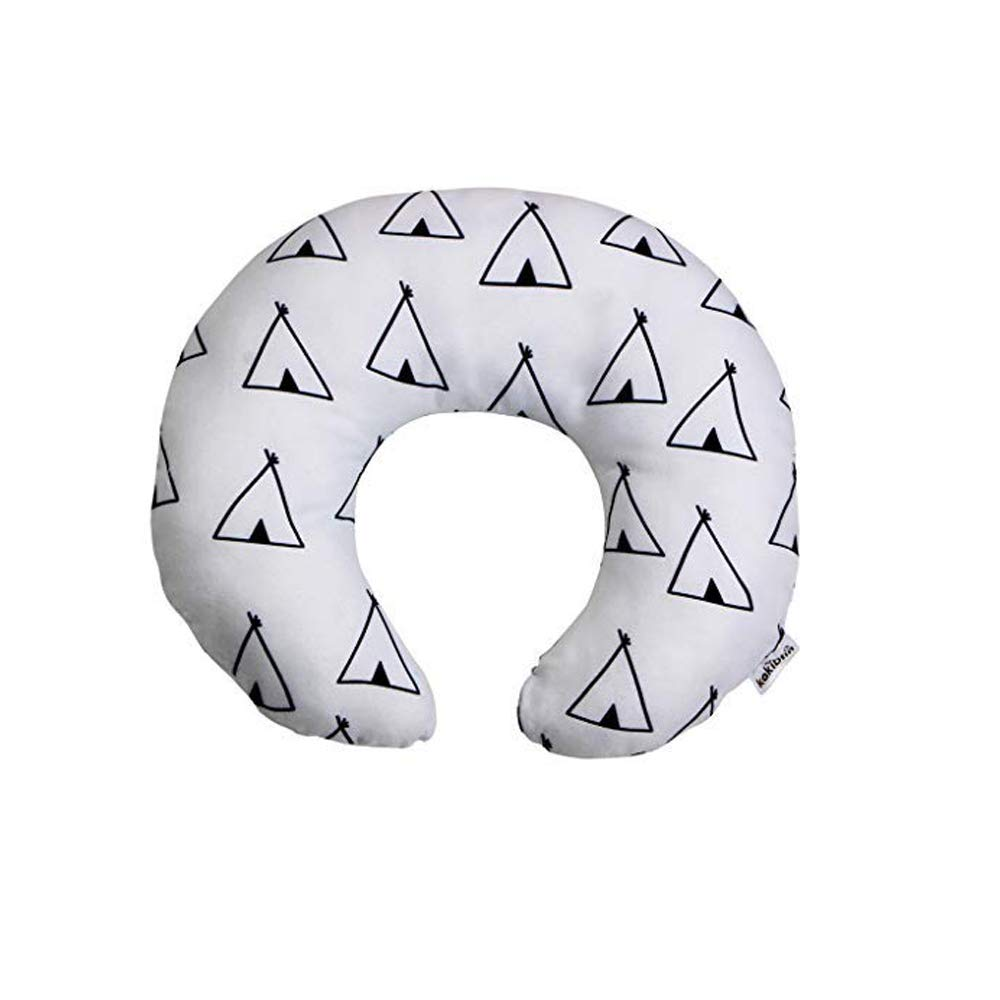 Newborn Baby Travel Pillow-Baby Neck Support Pillow for Toddler Car Seat to Protect Babys Head Orange Fox,100/% Cotton-Gray