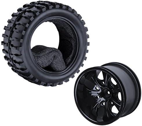hobbypark RCタイヤとホイールリムセットFoam挿入12mm六角for 1/ 10スケールRedcatレーシングVolcano EPX ( Pro ) Electric Truck ( 4-パック)