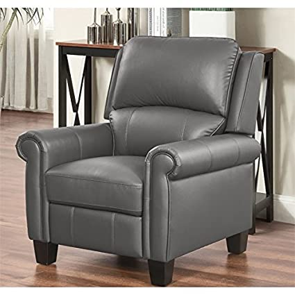 Incredible Amazon Com Abbyson Living Frankie Pushback Leather Recliner Unemploymentrelief Wooden Chair Designs For Living Room Unemploymentrelieforg