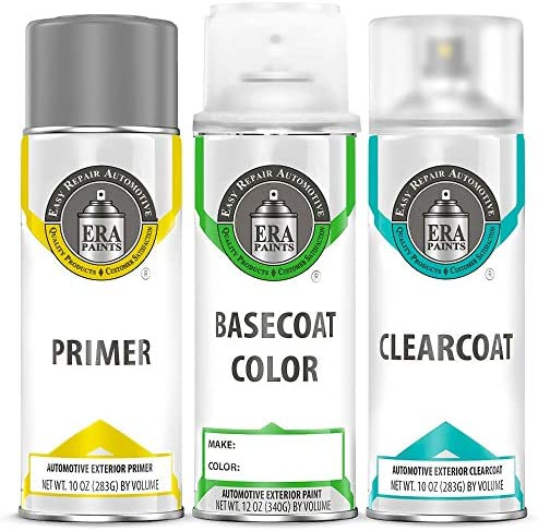 ERA Paints Kit de pintura en aerosol para retoques automotrices para Honda Accord 20172019 YR600M Kona Coffee Metallic Pintura en aerosol capa base para automóviles capa transparente e imprimador