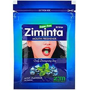 Ziminta Breath Freshener Strip Mint Flavour Strip 30 Strip