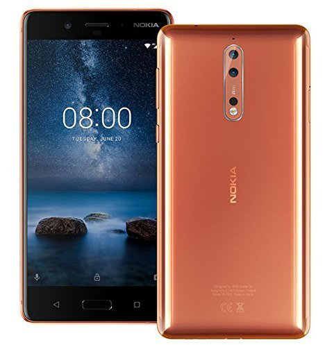 Nokia 8 TA-1052 64GB Polished Copper, Dual...