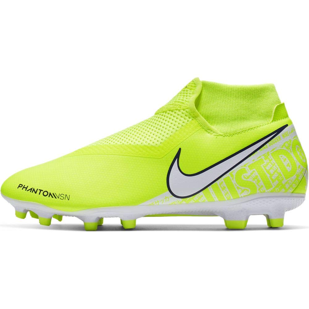 Nike Phantom Vision Academy Dynamic Fit MG Multi-Ground Soccer Cleat (7.5, Volt/Volt/White) by Nike