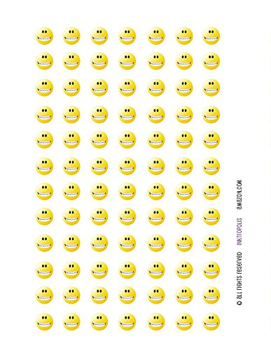 Monthly Planner Stickers Smiley Face with Braces Stickers...