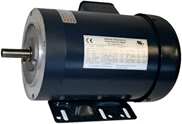 WITH BASE 56C//TEFC AC MOTOR 208-230V//460V 1//3HP 3PH 1725RPM