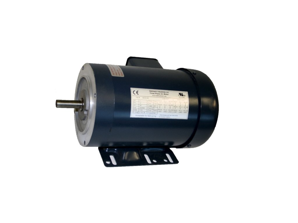 Hallmark Industries MA0503E AC Motor, 1/3hp, 1725 RPM, 3PH/60HZ, 208-230/460VAC, 56C/TEFC, with Foot, SF 1.15, Insul F, Inverter Duty by Hallmark Industries
