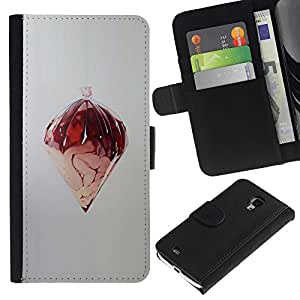 ZCell / Samsung Galaxy S4 Mini i9190 / Random Abstract Art Design Structure Modern / Caso Shell Armor Funda Case Cover Wallet / Aleatoria Abstrac
