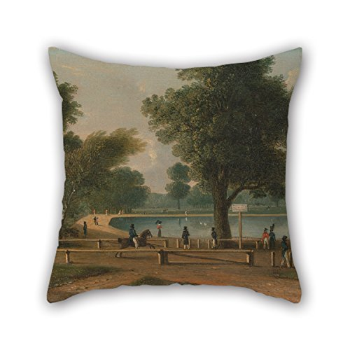 Artistdecor 16 X 16 Inches / 40 By 40 Cm Oil Painting George Sidney Shepherd - The Serpentine, Hyde Park Throw Cushion Covers,both Sides Is Fit For Dinning Room,kids Room,her,deck Chair,car Seat