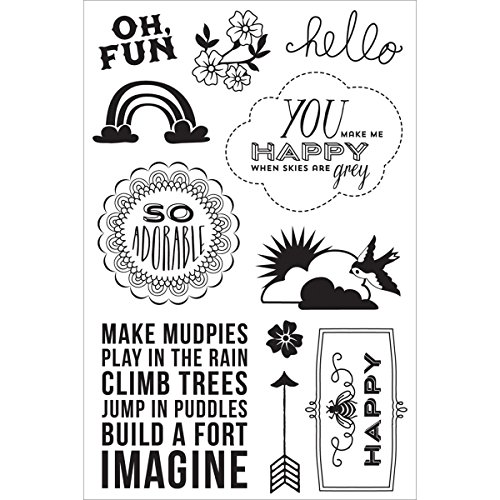 Basic Grey Fresh Cut Clear Stamps By Hero Arts-Oh, Fun
