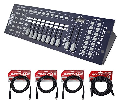 Chauvet DJ OBEY40 OBEY 40 DMX-512 Universal Light Controller w/ 10' & 25' Cables