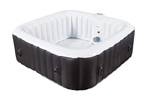 Water Clip - Spa hinchable cuadrado 8 plazas 185 x 185 x 65 ...