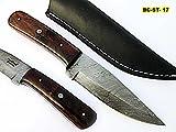 BC-ST-17, Custom Handmade Damascus Steel Skinner Knife – Exotic Rose Wood Handle Review