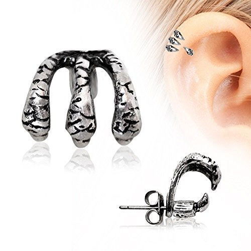 Piercing Stainless Trident Cartilage Earring