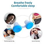 Silicone Anti Snore Device Nasal s Apnea Sleep Aid Stop Snoring Stopper Nose Clip Anti-Snore Clean Air Purifier U1 Blue