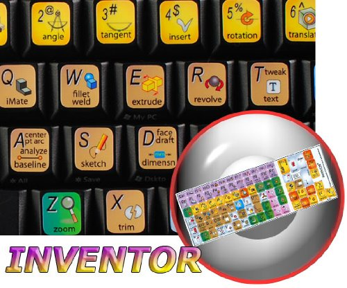 Autodesk Inventor Keyboard Decals Shortcuts