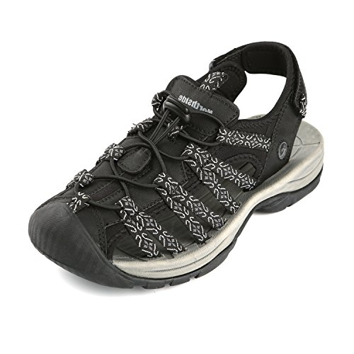 Northside Women's Savannah Athletic Sandal, Black/Gray, 9 B(M) US