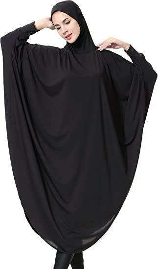 Simple and Elegant Abaya Jilbab Batwing Kaftan Dress