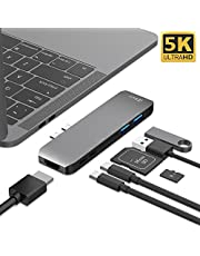 USB C Hub, Type C Adapter, Type C Hub to 4K HDMI, 2 USB 3.0 (up to 5Gb), USB C Power Delivery and SD/TF Card reader, Aluminum Case, for Macbook and more PC