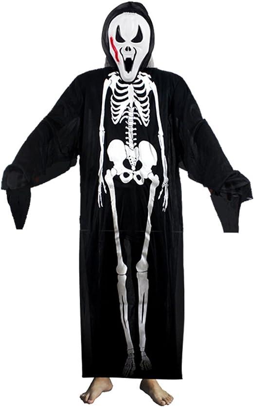 Decdeal - Disfraz de Esqueleto para Halloween Mascarada Cosplay ...
