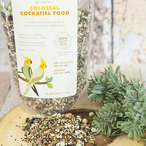 Dr. Harvey's Colossal Cockatiel Blend, All Natural Daily Food for Cockatiels (4 pounds)