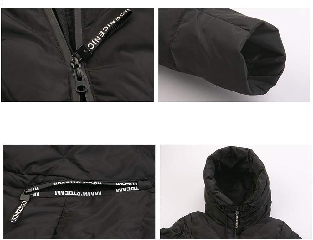 MLX-BUMU Giacca Invernale Lunga da Donna Giacca Moda Calda da Donna con Cappuccio Abbigliamento Donna A