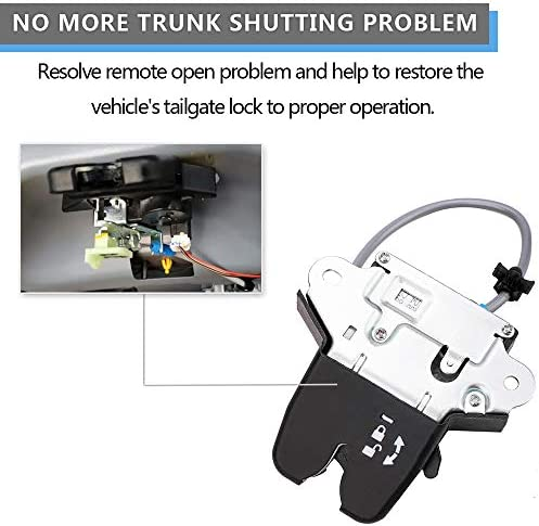 Replaces 81230-C1010 2016 With Cable 2017 Automatic Keyless Trunk Replacement Trunk Rear Latch Door Actuator Compatible with Hyundai Sonata 2015 81230C1010