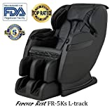 2018 BEST VALUED MASSAGE CHAIR BY FOREVER REST FR-5KsL PREMIER BACK SAVER, L-TRACK SYSTEM, SHIATSU, ZERO GRAVITY MASSAGE CHAIR WITH FOOT ROLLING AND BUILT IN HEAT, STRETCH & SWING MODE (BLACK)