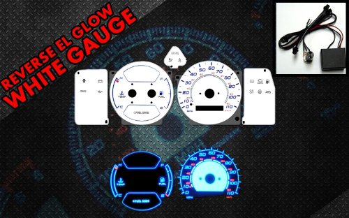 Brand New White Face Blue Indigo Reverse Glow Gauges For 98-02 Toyota Corolla w/o Tach (I-443) by Monoka Racing (Image #2)