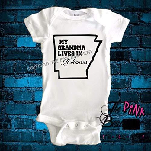 Grandma Granny Nanna Nanny Gram Grammy Arkansas State Personalized Babies Baby Clothes Clothing Unisex Boys Girls Newborn Gift Jumper Jumpsuit Bodysuit One piece Pajamas]()
