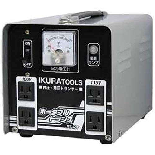 IKURA SEIKI Portable trans going up and down pressure combined use 3kVA PT30T Japan used like new from IKURA SEIKI