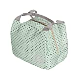Fit & Fresh Picnic Tote Lunch Bag Storage Thermal Insulated Cooler Travel Zipper bento Bag (Green Dot)