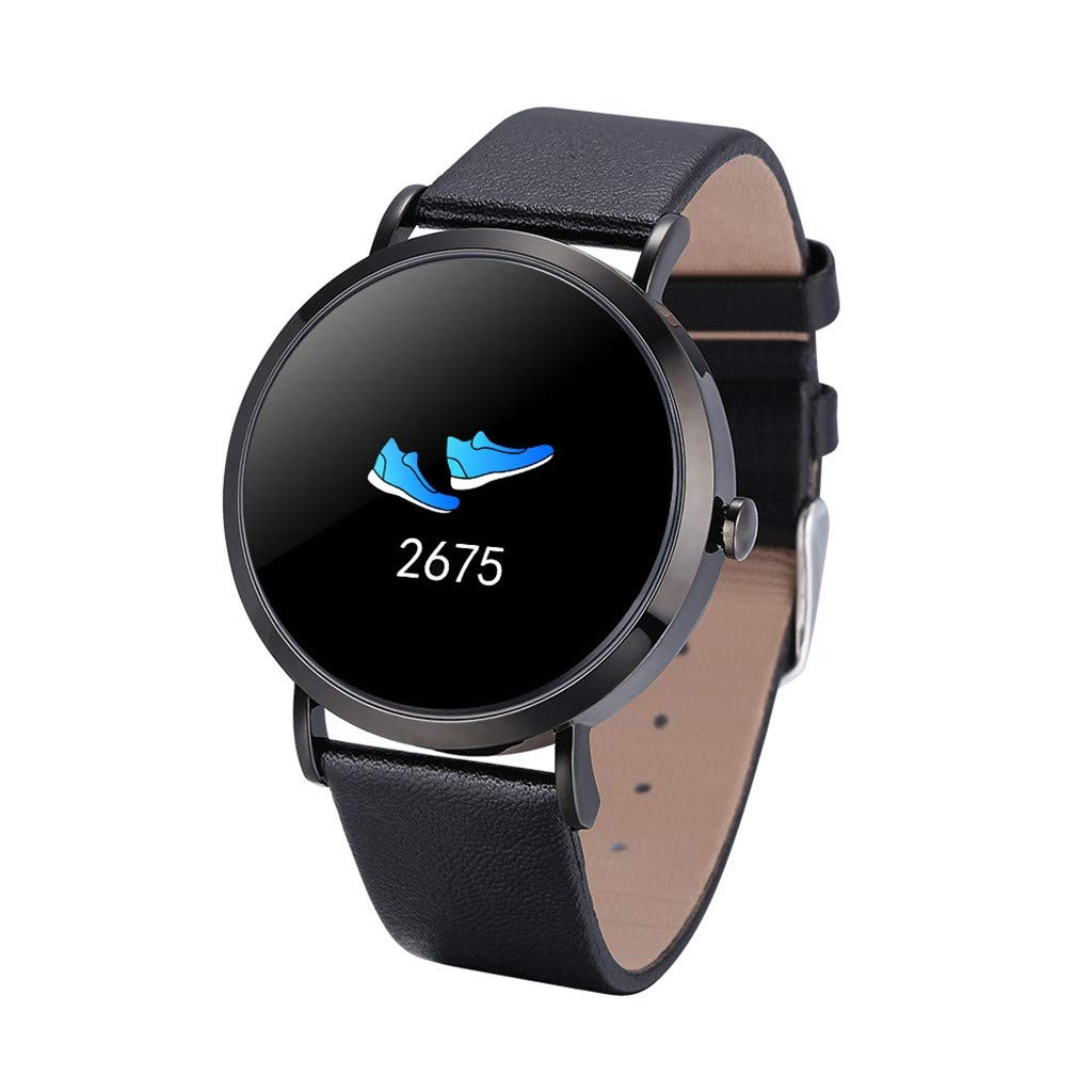 For iOS Android, Waterproof Sport Smart Watch Fitness Activity Blood Pressure Heart Rate Sleep Monitoring Smart Bracelet (E)
