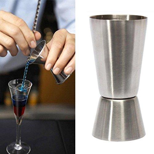 Fheaven Jigger Single Double Shot Short Drink Spirit Measure Cup Cocktail Bar Party Wine