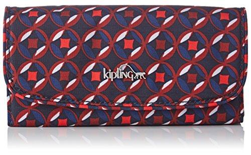 Women's Wallet, Mehrfarbig (Red Tile Print), 26x10x3 cm (B x H T) (Kipling Print Wallet)