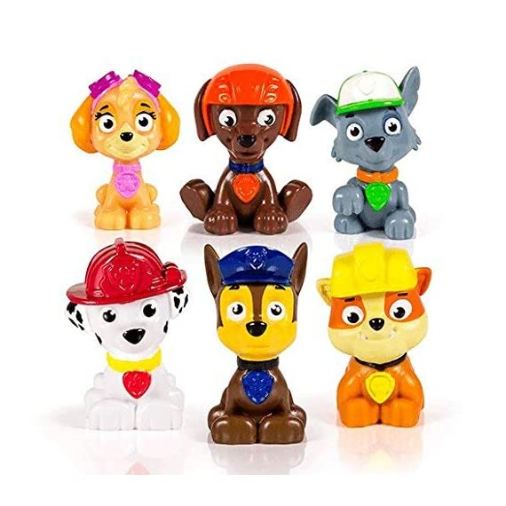 paw patrol Parent 3 Paw Patrol miniature figures, individually packaged, set of 6 miniature figures includes: Rubble, Chase, Skye, Zuma, Rocky and Marshall Take Paw Patrol mini Pups in your pockets everywhere you go! Paw Patrol miniature figures measure approximately 1 -3/4 inches in height.