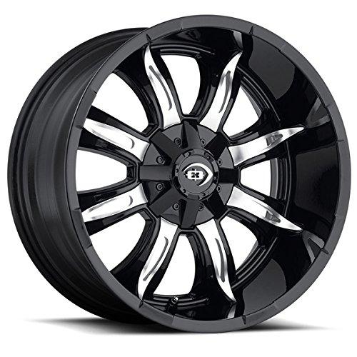 "UPC 886821166473, Vision 423 Manic Gloss Black Machine Face Wheel with Machined Finish (20x9""/6x135mm)"