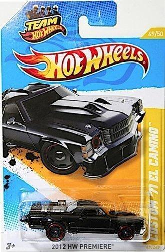 hot wheels 2012 new models custom 71 el camino black 4950 - Hot Wheels Cars 2012