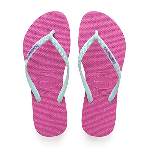 hollywood Zehentrenner Rose ice Slim Pink Logo 2397 Blue Damen Havaianas wtqg6X