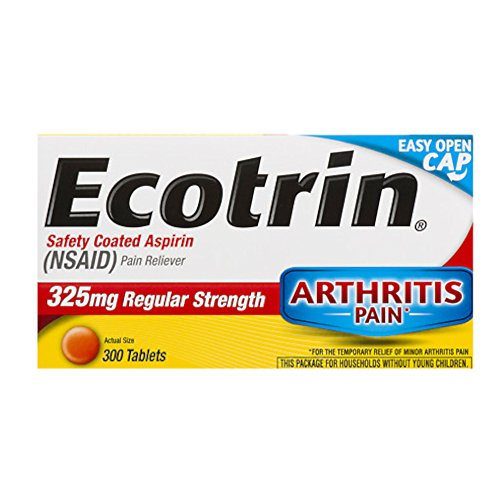 Ecotrin Safety Coated Tablets, 325 mg Regular Strength, 300-Count Bottles (Pack of 2) by Ecotrin