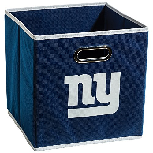 - Franklin Sports NFL New York Giants Fabric Storage Cubes - Made To Fit Storage Bin Organizers (11x10.5x10.5