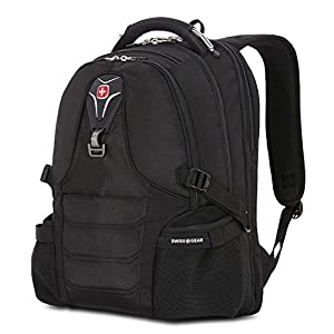 "SwissGear Laptop Notebook iPad ScanSmart Backpack, Outdoor Premium Swiss Gear Book Bag, fits Most 17"" Laptop Computers, Black"