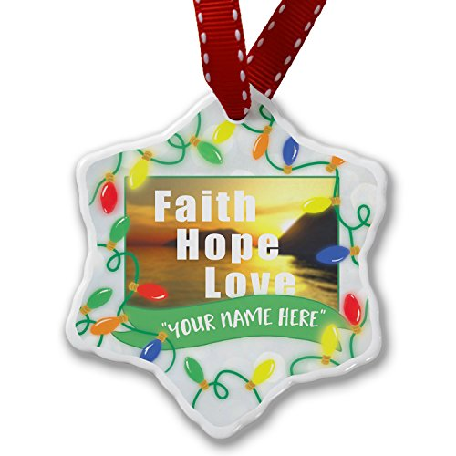 Personalized Name Christmas Ornament, Faith Hope Love NEONBLOND by NEONBLOND