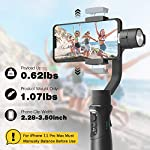 3-Axis Gimbal Stabilizer for iPhone 11 PRO MAX X XR XS Smartphone Vlog Youtuber Live Video Record with Sport Inception Mode Face Object Tracking Motion Time-Lapse - Hohem iSteady Mobile Plus 6