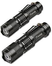 2 Stück LED Taschenlampe iToncs Taktische Taschenlampe Wasserdichte Camping Handlampe