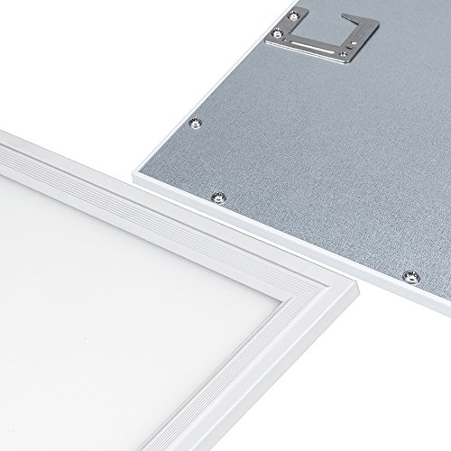 LTMATE 2x2FT 40W 5000K Cool White, Ultra Thin LED Flat Panel Light, Drop Ceiling Light, Edge-Lit, 4400 Lumens, 0-10V Dimmable, White Frame, No Flicker, DLC-Qualified, 2x2 5000K, 2pack by LTMATE (Image #3)