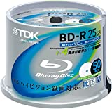 TDK Blu-ray Disc 50 Spindle - 25GB 4X BD-R - Printabl