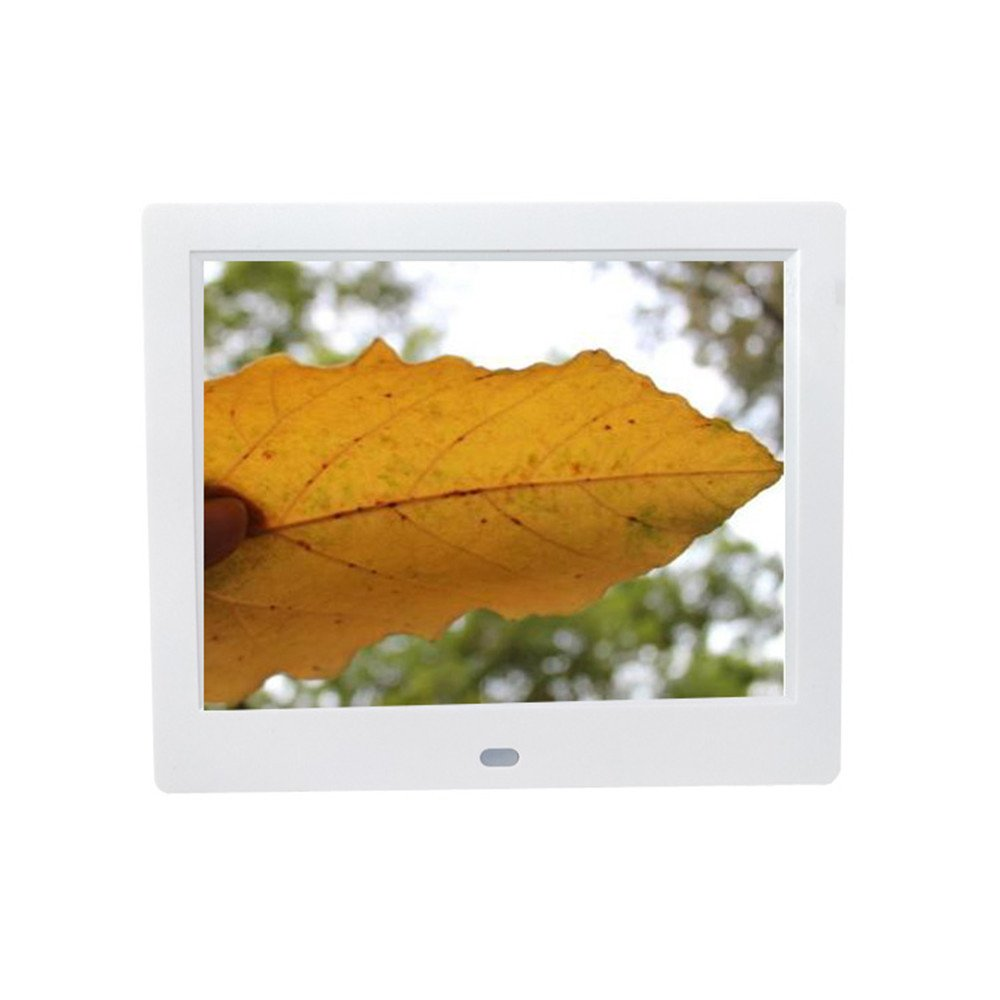 Inkach - Digital Picture Frame 8-inch Front Touch Screen Electronic Photo Frames with Motion Sensor (White)